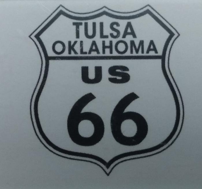 Tulsa U.S. 66 highway sign