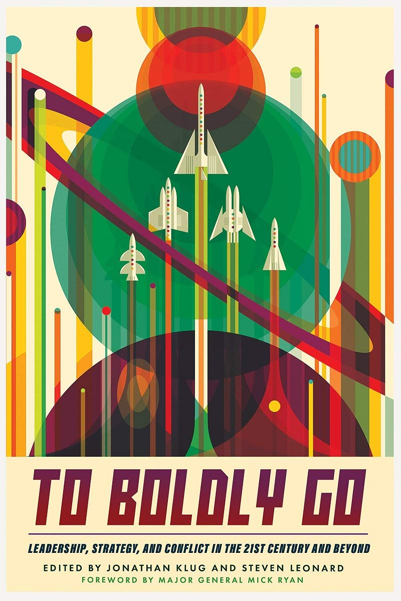 """""""Go boldly"""" book cover"""