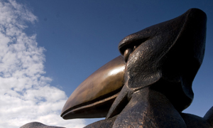 Academic Jay sculpture