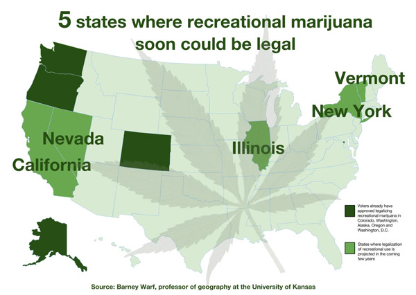 Cannabis Country Researcher Forecasts Next 5 States Likely To Ok