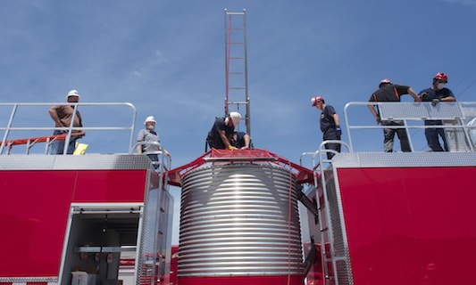Firefighters train for grain engulfment rescue